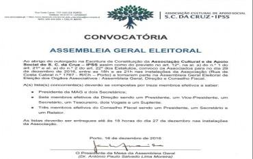 Convocatória para Assembleia Geral Eleitoral